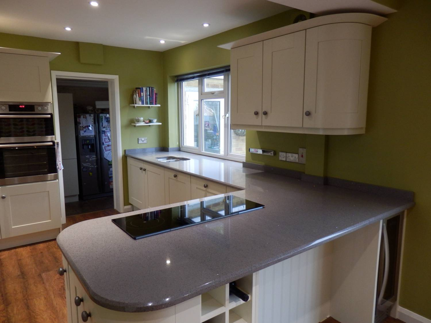 White Kitchen With White And Grey Worktop